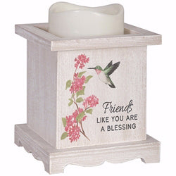 "D�cor Flameless Candle-Friend w-Timer (5.25"" x 4.25"" x 4.25"")"