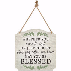 "Wall Decor-Blessed (Indoor-Outdoor) (12"" x 12"")"