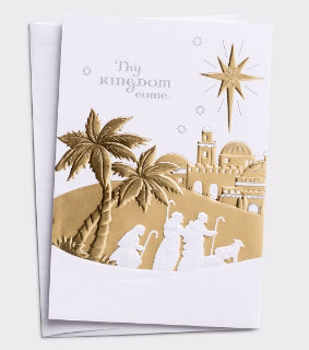Card-Boxed-Thy Kingdom Come-Panel Card (Box Of 18)
