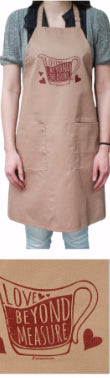 Apron-Love Beyond Measure-Khaki