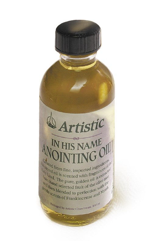 "Anointing Oil-Frankincense And Myrhh ""In His Name""-2 Oz"