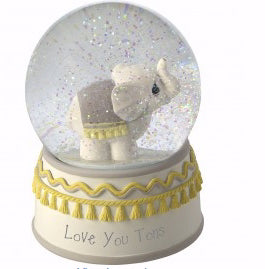 "Snow Globe-Musical Elephant-Love You Tons (6"")"