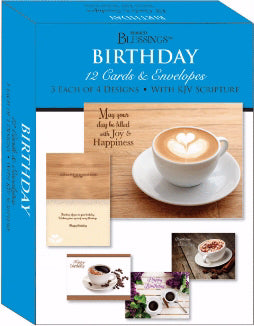 Card-Boxed-Shared Blessings-Birthday Coffee Time (Box Of 12)