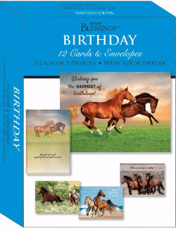 Card-Boxed-Shared Blessings-Birthday Wild Horses (Box Of 12)