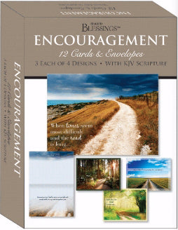 Card-Boxed-Shared Blessings-Encouragement Pathways (Box Of 12)