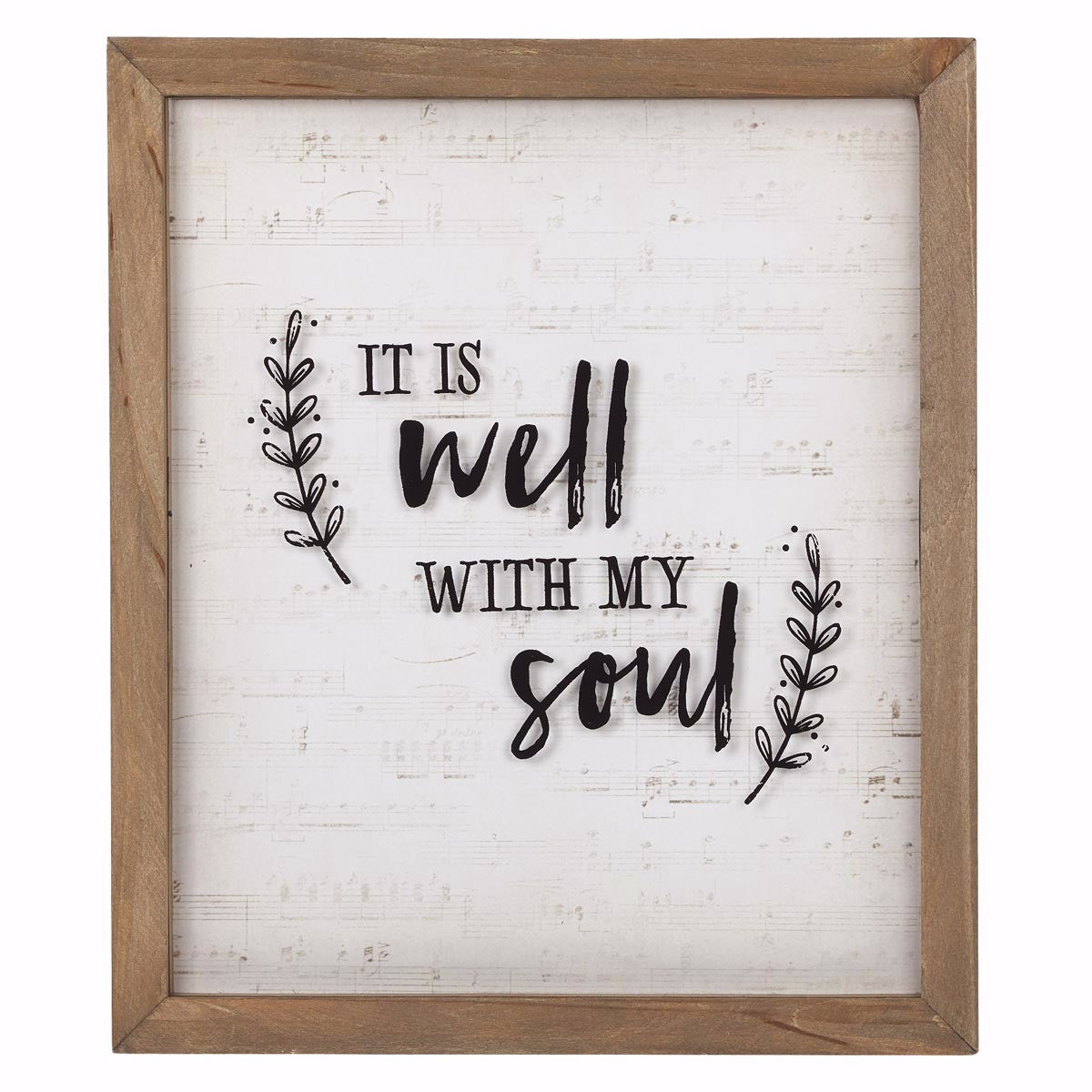 Wall Plaque-It Is Well (12 x 14)