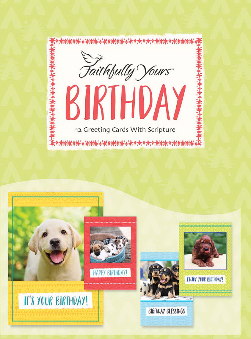 Card-Boxed-Birthday-Playful Puppies (Box Of 12)