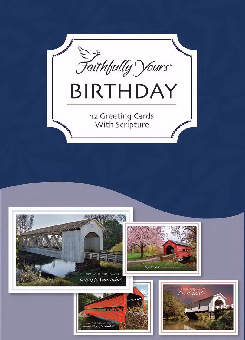 Card-Boxed-Birthday-Covered Bridges (Box Of 12)