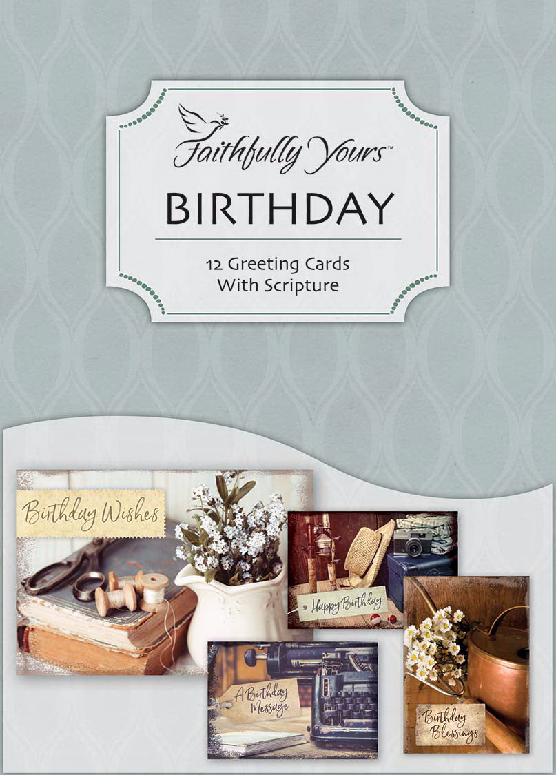 Card-Boxed-Birthday-Wonderfully Vintage (Box Of 12)