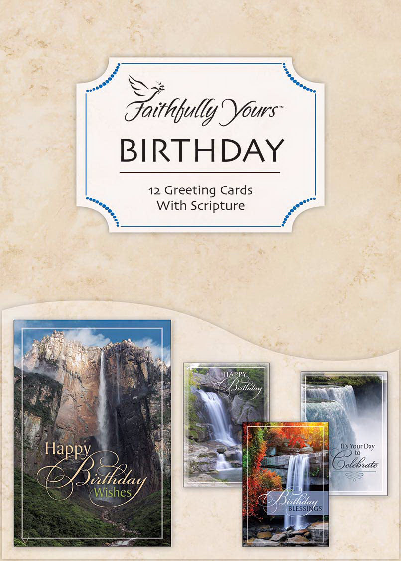 Card-Boxed-Birthday-Waterfalls (Box Of 12)