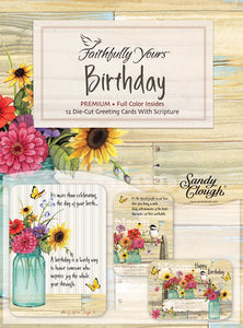 Card-Boxed-Birthday-Blooms (Box Of 12)