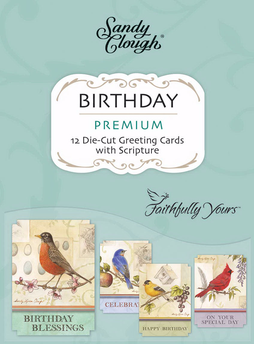 Card-Boxed-Birthday-Song Birds (Box Of 12)