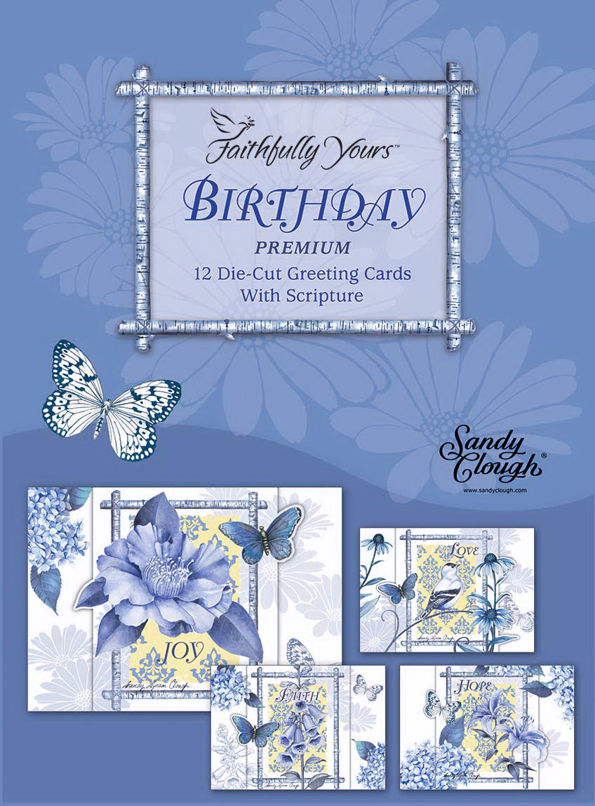 Card-Boxed-Birthday-Indigo Garden (Box Of 12)