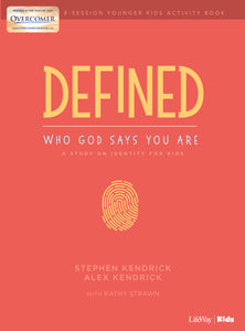 Defined: Who God Says You Are-Younger Kids Activity Book (Overcomer)