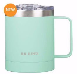 Camp Style Mug-Be Kind-Teal (Stainless)