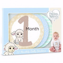 Sticker-Luffie Lamb Baby's Monthly Milestones (Pack Of 12)