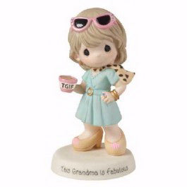 "Figurine-TGIF This Grandma Is Fabulous-Bisque Porcelain (5"")"