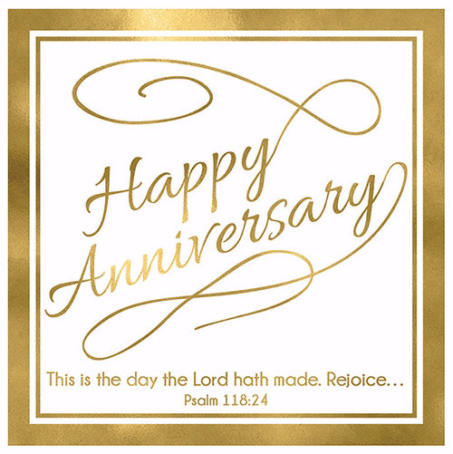 "Cards-Gift-Happy Anniversary (Psalm 118:24) (3"" X 3"")"