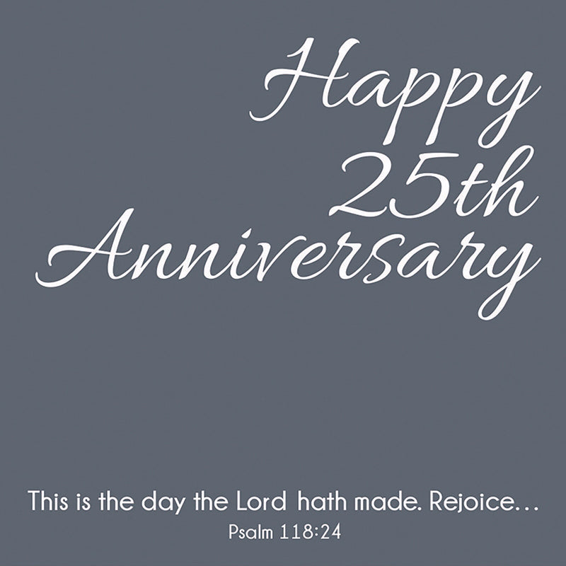 "Cards-Gift-25th Anniversary (Psalm 118:24) (3"" X 3"")"