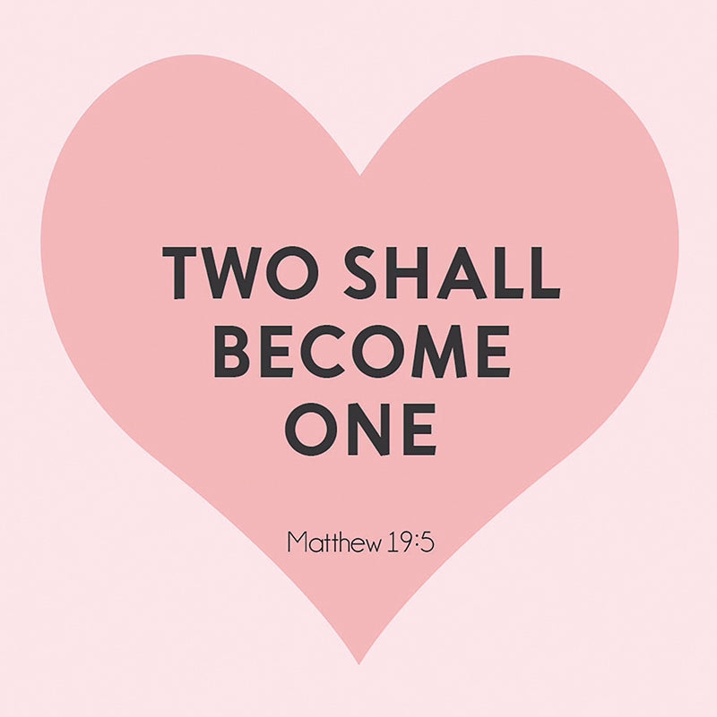 "Card-Gift-Two Shall Become One (Matthew 19:6) (3"" X 3"")"