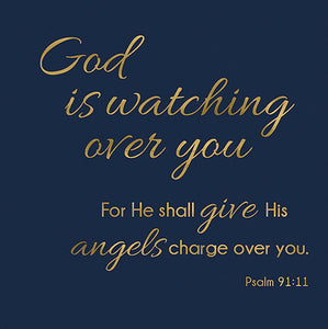 "Cards-Gift-God Is Watching (Psalm 91:11) (3"" X 3"")"