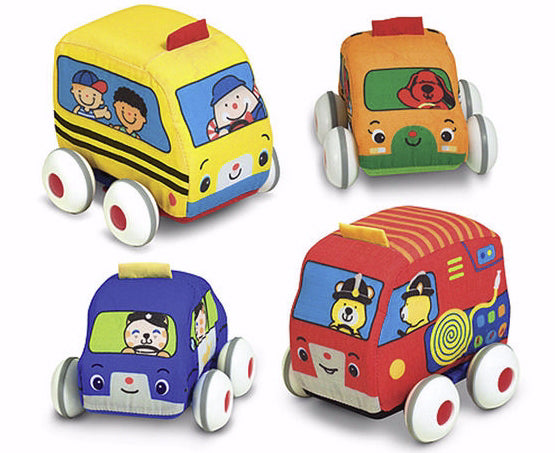 Baby Play-Pull-Back Town Vehicles (4 Pieces) (Ages 9M+)