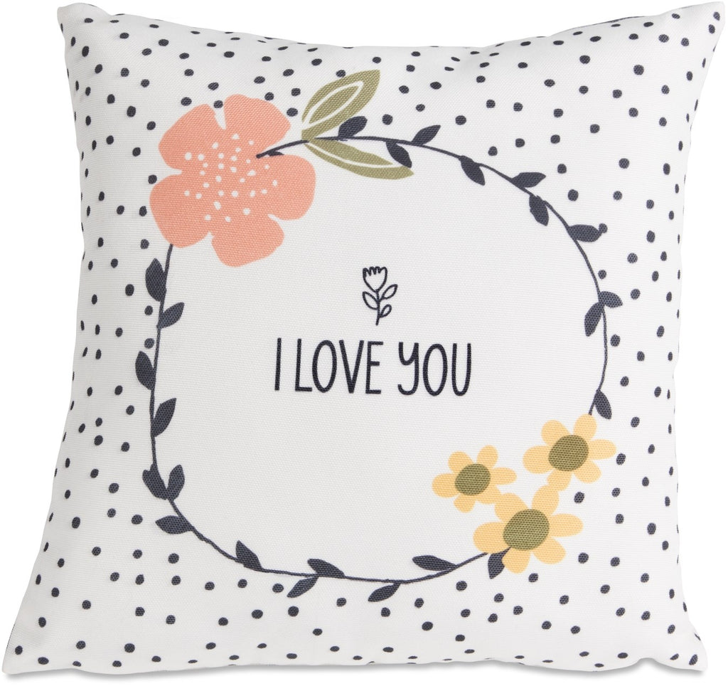 Micromink Pillow-I Love You (12 x 12)