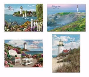 Card-Boxed-Shared Blessings-Thinking Of You 1-Coastal (Box Of 12)