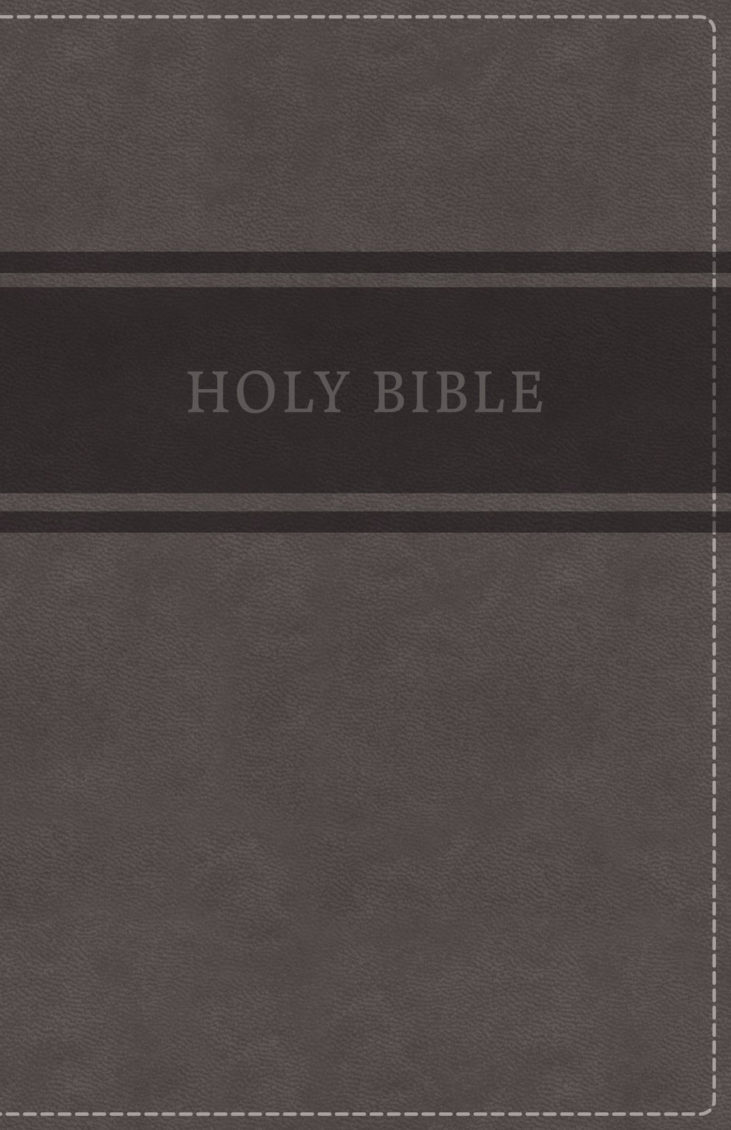 KJV Deluxe Gift Bible (Comfort Print)-Gray Leathersoft