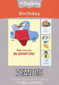 Card-Boxed-Birthday-Peanuts Adventure (Box Of 12)