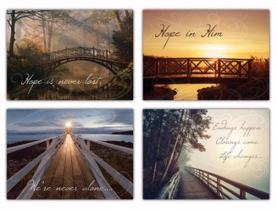 Card-Boxed-Life's Journey For Unexpected Loss Assorted Sympathy (KJV) (Box Of 12)