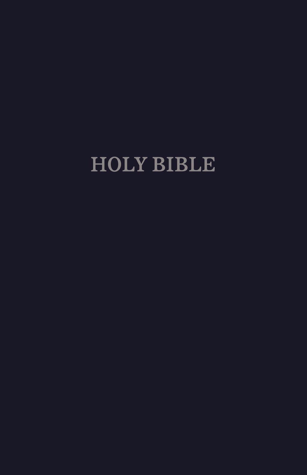 KJV Gift & Award Bible (Comfort Print)-Navy Blue Leatherflex