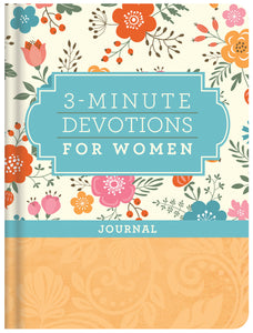 3-Minute Devotions For Women Journal-Hardcover