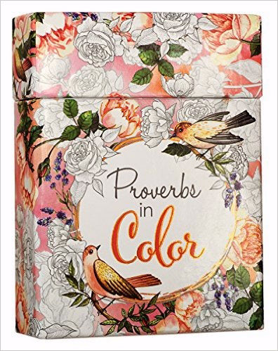 Proverbs In Color Adult Coloring Cards (Box Of 44)