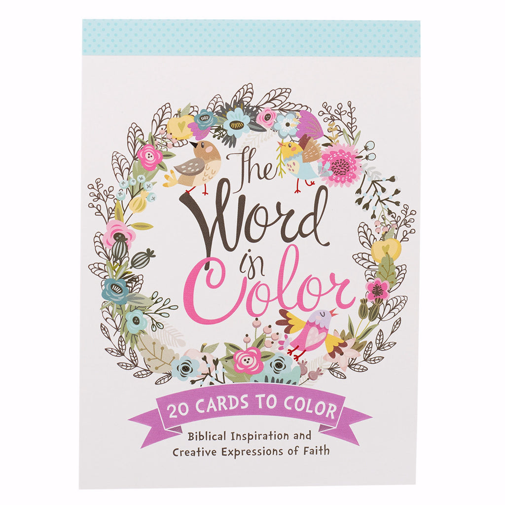 Word In Color Coloring Postcards