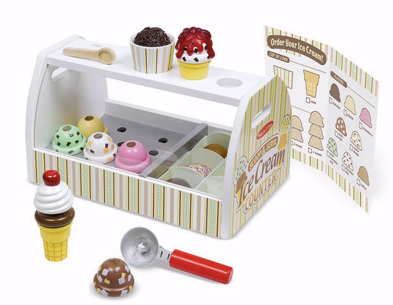 Pretend Play-Scoop & Serve Ice Cream Counter (28 Pieces) (Ages 3+)