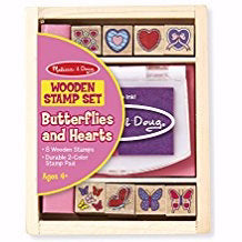 Stamp Set-Butterflies & Hearts (9 Pieces) (Ages 4+)