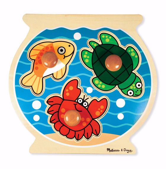 Puzzle-Fish Bowl Jumbo Knob Puzzle (3 Pieces) (Ages 1+)