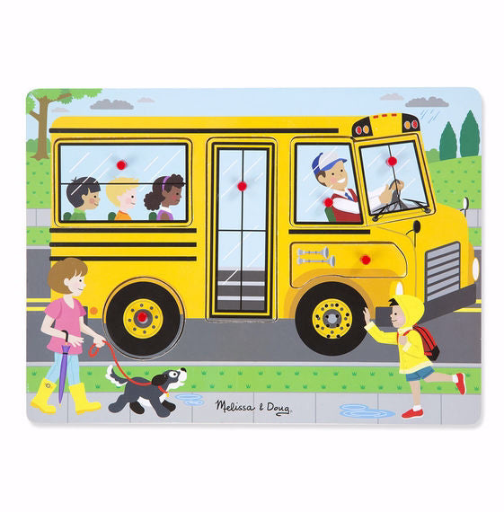 Puzzle-Wheels On The Bus Sound Puzzle (6 Pieces) (Ages 2+)