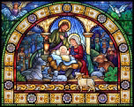 Jigsaw Puzzle-Stained Glass Holy Night (1000 Pieces)