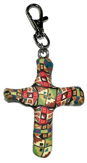 "Clip-Comforting Clay Cross-Multiple Blessings-Pink (3"")"