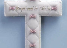 "Wall Cross-Baptism-Boy (6.5"")"