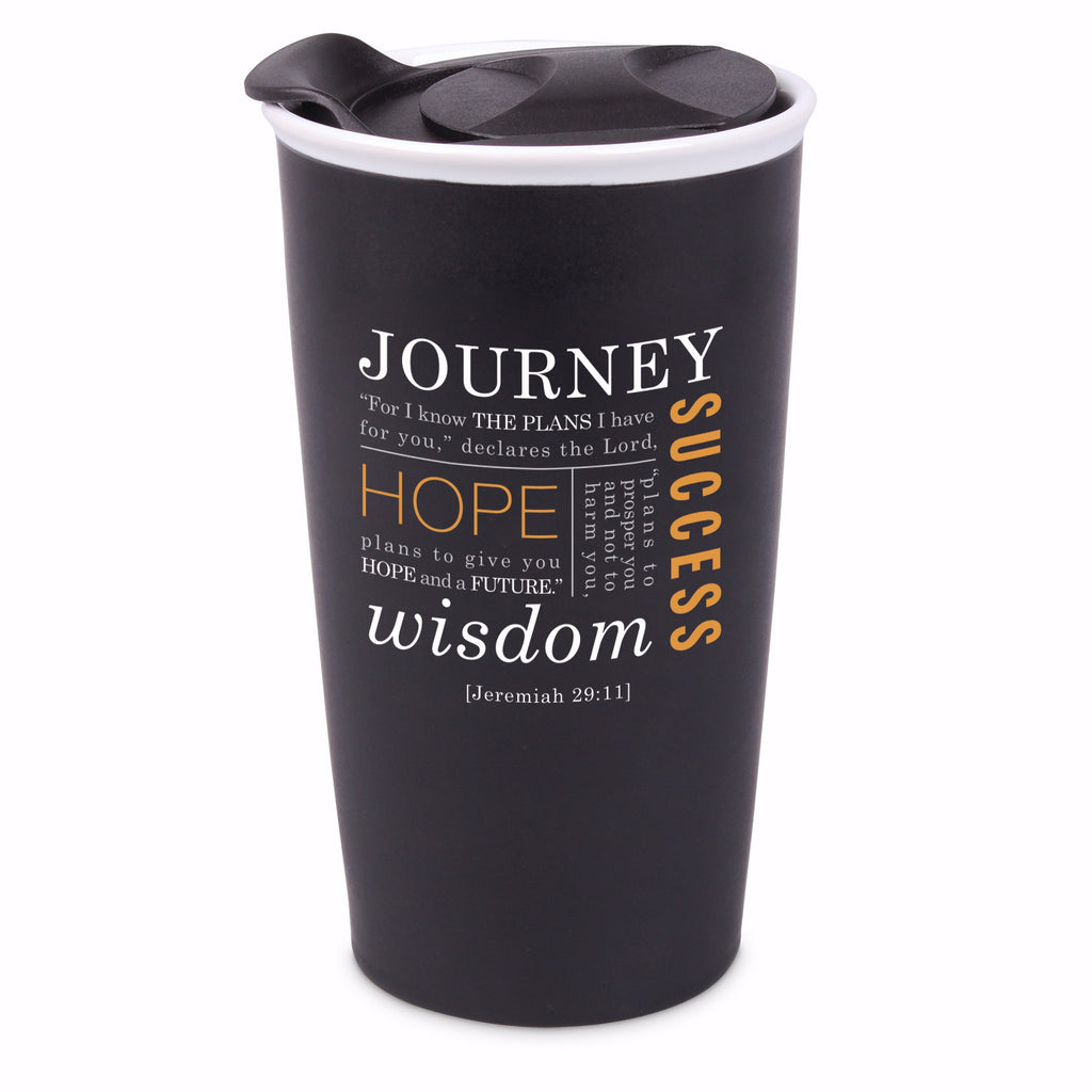 Tumbler-Journey-Double Wall Ceramic-Black (#15041)