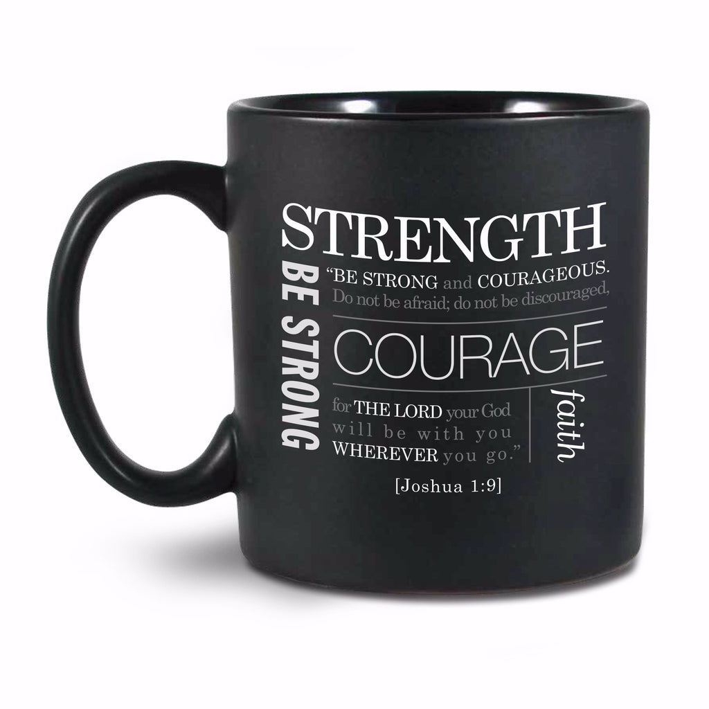 Mug-Simple Faith Series II: Strength-Black (#18841)