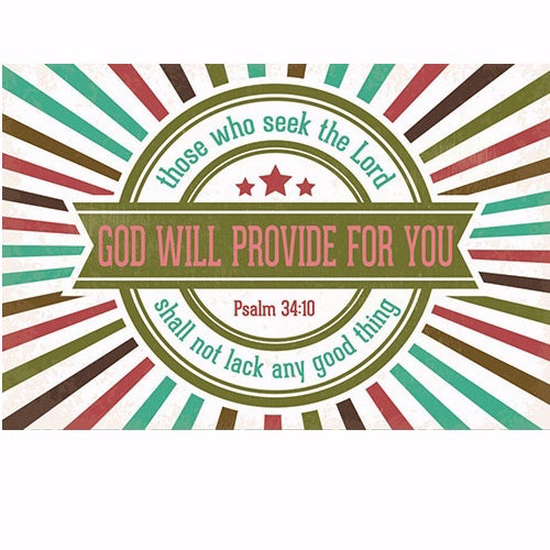"Cards-Pass It On-God Will Provide (3"" x 2"") (Pack Of 25)"