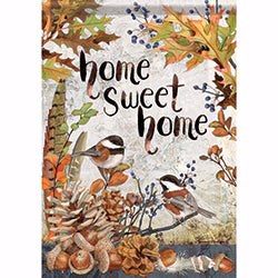 Flag-Garden-Sweet Chickadees (12.5 x 18)