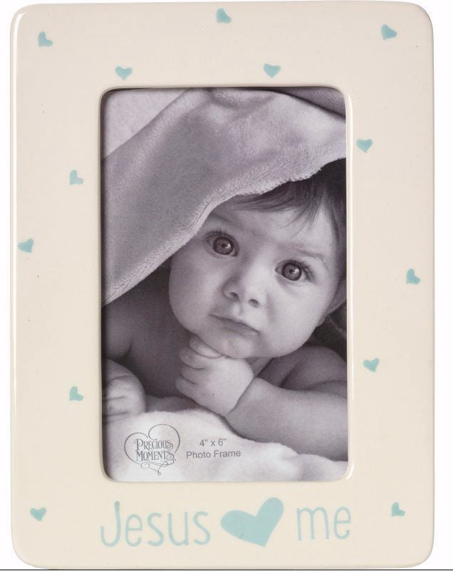 Photo Frame-Jesus Loves Me-Boy (Holds 4 x 6 Photo)
