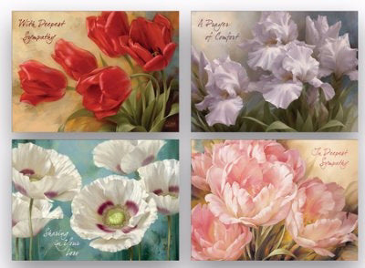 Card-Boxed-Shared Blessings-Sympathy 2-Floral (Box Of 12)