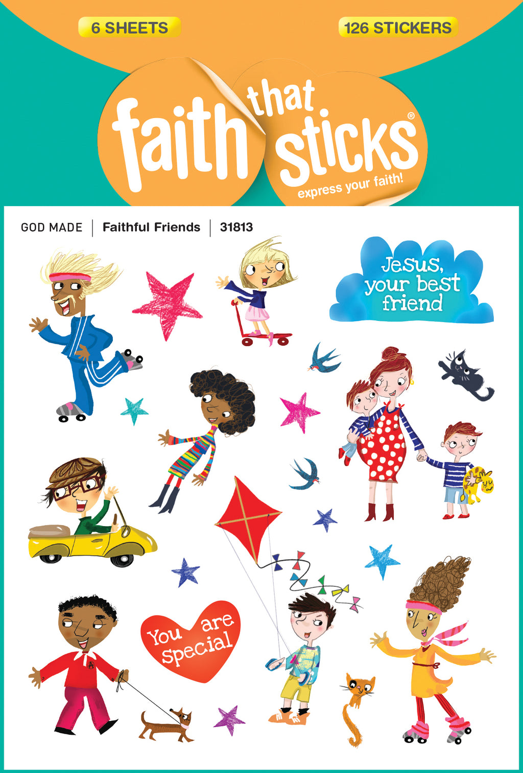 Sticker-Faithful Friends (6 Sheets) (Faith That Sticks)