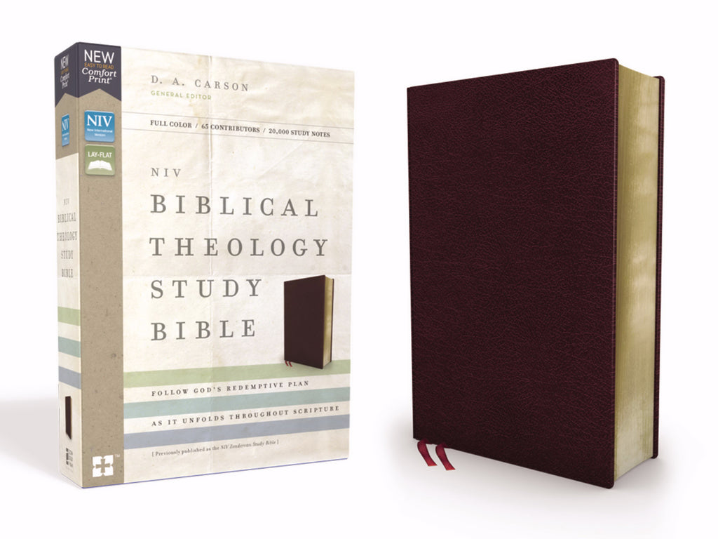NIV Biblical Theology Study Bible (Comfort Print)-Burgundy Bonded Leather
